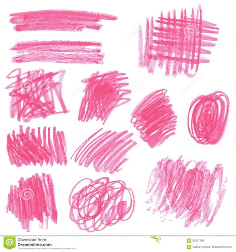 Pink Sketches by Pink Pencil Drawing Sketches Stock Vector Image 59337286