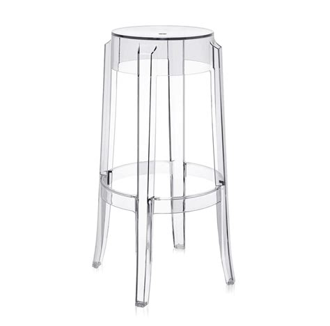 Sgabello Kartell noleggio sedie sgabelli kartell charles ghost cristall