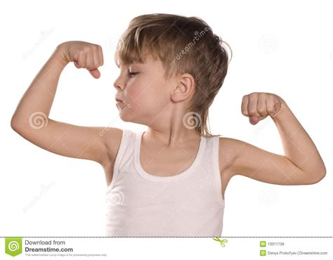 Little Boy Flexing Bicep | little boy flexing biceps stock image image of male