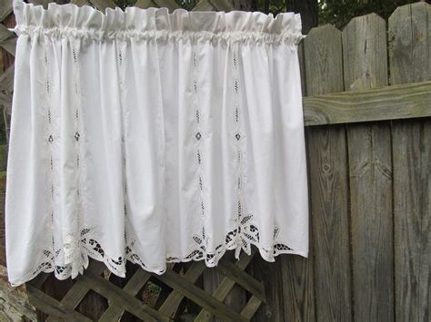 Battenburg Lace Curtains Battenburg Lace Country Window Curtain Valances For By Homestyled