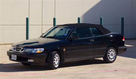 saab convertible black 1999 saab 9 3 black on black convertible for sale