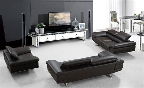 modern brown leather sofa divani casa hollis modern brown leather sofa set