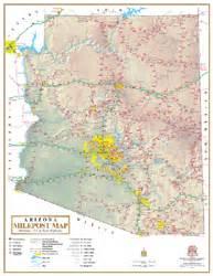 arizona milepost interstate wall map by wide world of maps