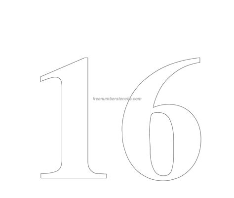 best photos of number 16 template printable number 16