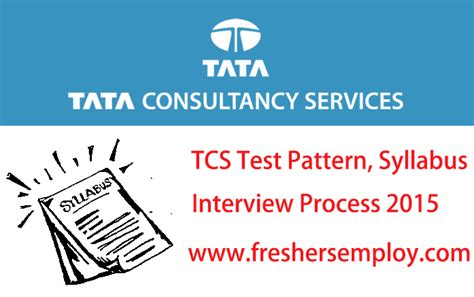 pattern test for interview tcs online test pattern syllabus and interview process
