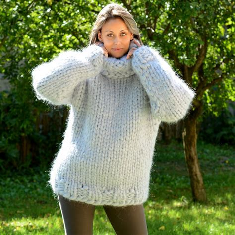 Handmade Knitted Sweaters - 20 strands knit mohair sweater by extravagantza