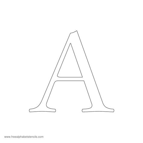 letter a template free printable stencils for alphabet letters numbers