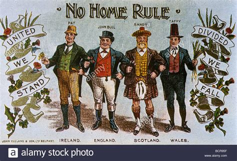no home rule for ireland postcard about 1911 stock photo