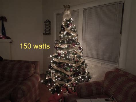 how many strings of lights for 7 foot tree how much does it cost to light lights