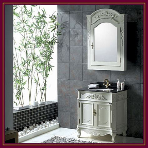 China Solid Wood Bathroom Cabinet Vanity Unit Bathroom Solid Wood Vanity Units For Bathrooms