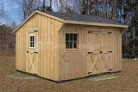 wooden storage saltbox style shed plans