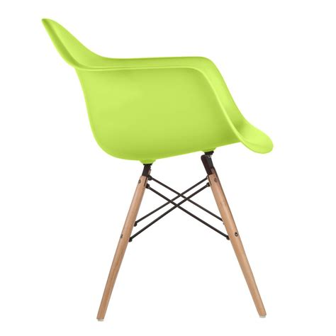 green armchair set of 4 eames style daw molded lime green plastic dining