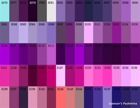 violet color code purple shades notice 8121 8135 are closely related to