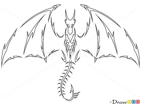 learn how to draw a dragon tattoo tattoos step by step how to draw flying dragon tribal tattoos