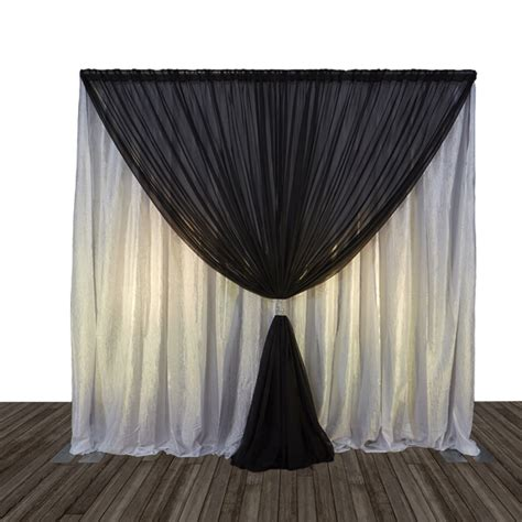 10 ft curtains economy 1 panel 2 tone curtain backdrop 8 ft tall or 8 10