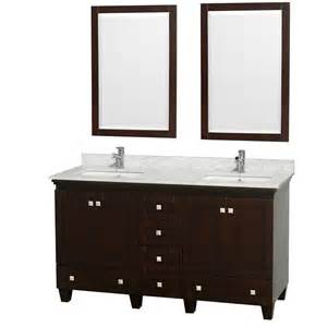 acclaim 60 quot bathroom vanity espresso