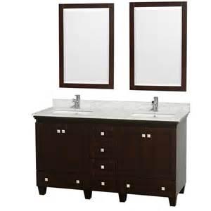Double bathroom vanity espresso acclaim 60 in double bathroom vanity