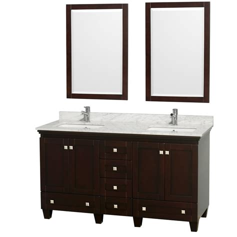 acclaim 60 quot double bathroom vanity espresso
