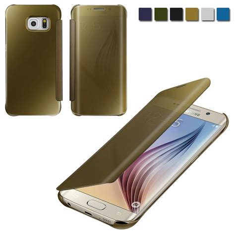 S6 Edge Mirror Cover Flip For Samsung Galaxy S6 Edge luxury mirror clear view slim smart cover for samsung galaxy s6 s6 edge s7 ebay