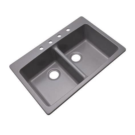 grey kitchen sink mont blanc waterbrook dual mount composite granite 33 in