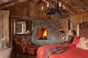 Log Cabin Bathrooms 44 Ultra Cozy Fireplaces For Winter Hibernation
