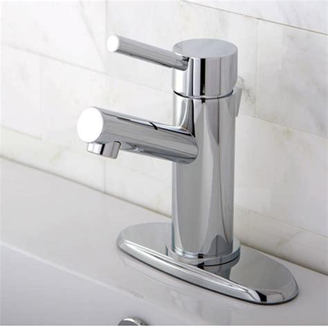 single handle bathroom sink faucet modern cavell single handle polished chrome bathroom sink