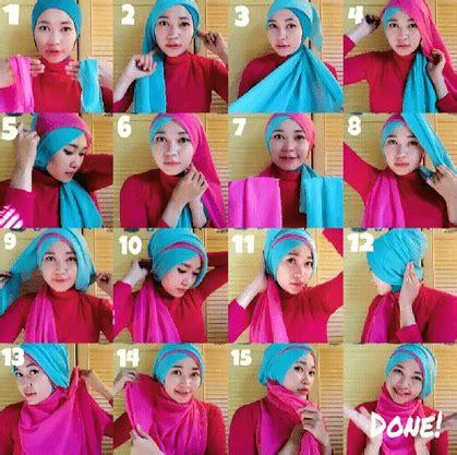 tutorial jilbab segi empat untuk wisuda 10 tutorial hijab paris untuk wisuda meski sederhana