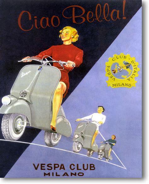 Vespa Vintage Poster vespa club vintage poster stretched canvas giclee repro 30x24 ebay