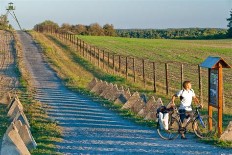 who first spoke of the iron curtain cycle path traces former iron curtain revealing forgotten