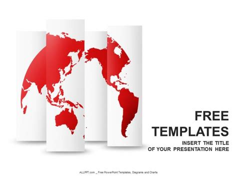templates powerpoint world red world map powerpoint templates design download free