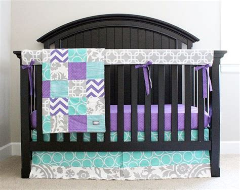 Purple And Blue Crib Bedding Purple And Blue Nursery Bedding Thenurseries