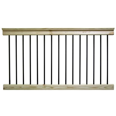 home depot banister rails deckorail 6 ft pressure treated aluminum and southern