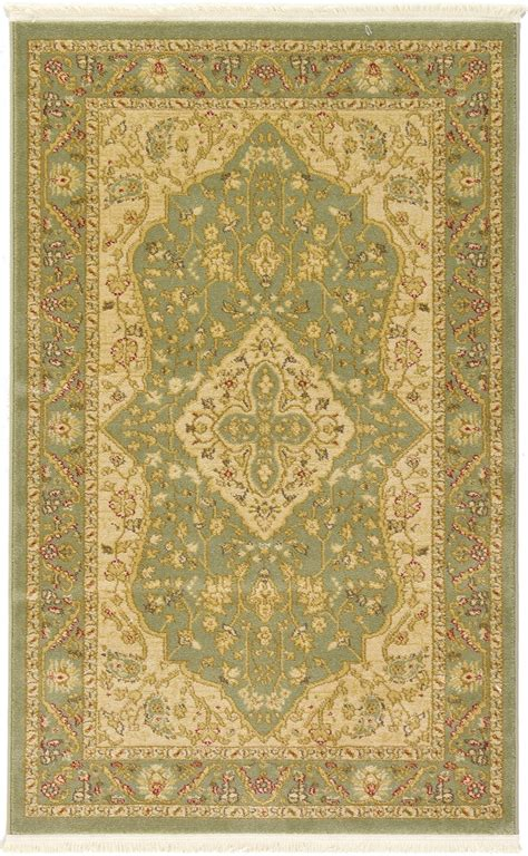Area Rugs With Borders Traditional Border Area Rug New Carpet Classic Heriz Soft Rugs Ebay