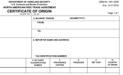 nafta certificate of origin template update available for the nafta certificate of origin