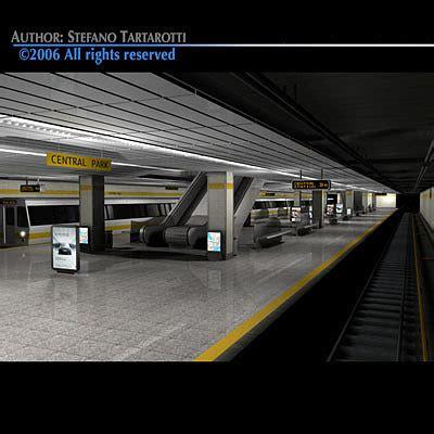 subway collection  model cgtrader