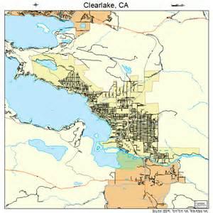 clear lake map california clearlake california map 0613945