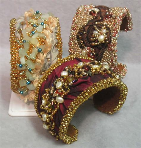 bead embroidery bracelets bead embroidered cuff bracelets beadage