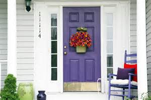 purple front door making an entrance part iii colorful porch makeover afternoon artist