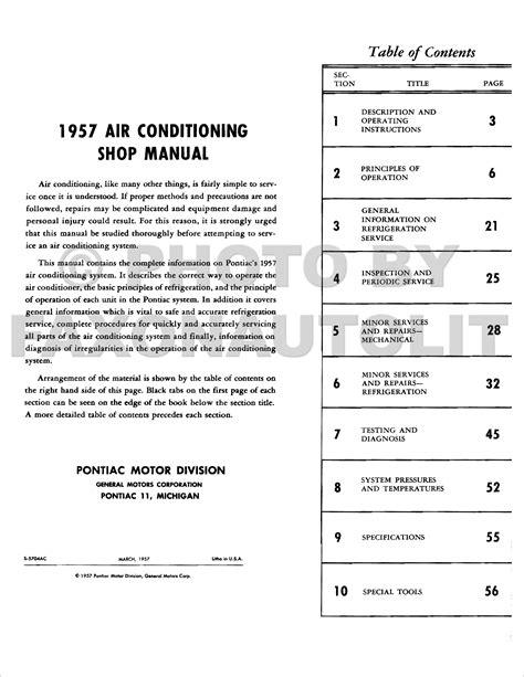 service manual auto air conditioning service 2000 pontiac sunfire regenerative braking 2000 1957 pontiac air conditioning repair shop manual reprint