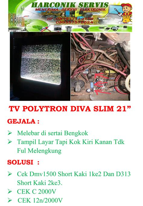 Tv Polytron Slim 14 Inch menangabaris servis elektronik