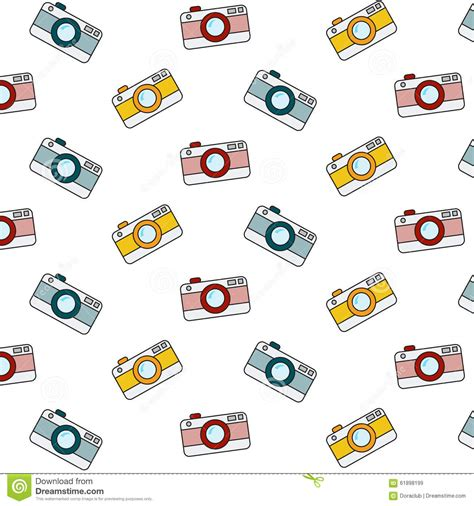 pattern background camera retro camera pattern stock vector image of cartoon