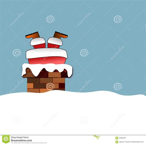 santa clause in chimney stock illustration image 63053307