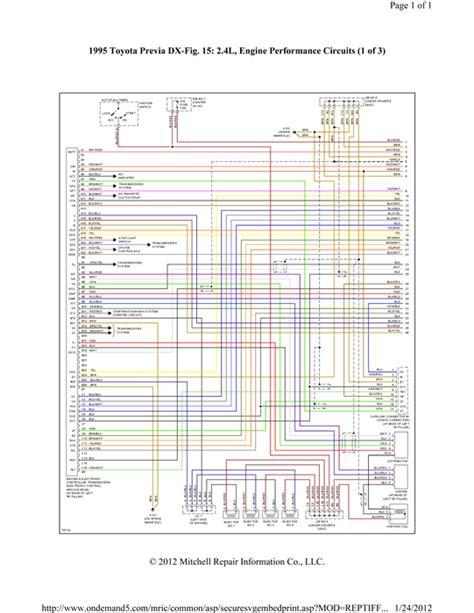 1992 toyota previa radio wiring diagram toyota liteace