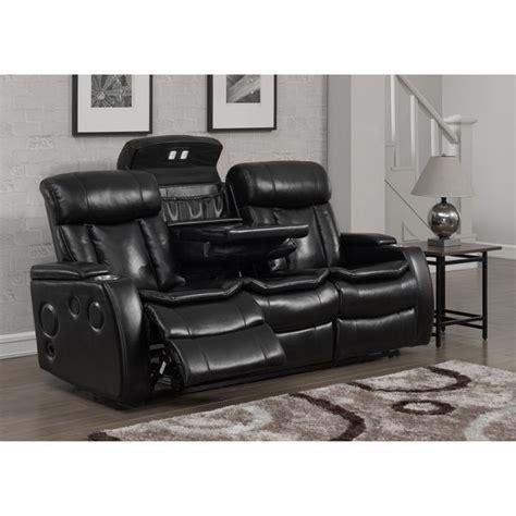 smart recliner smart tech bluetooth power reclining black sofa living