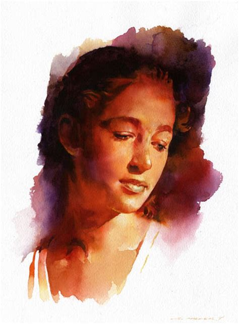 hairstyles watercolor watercolor paintings by stan miller fine art blogger