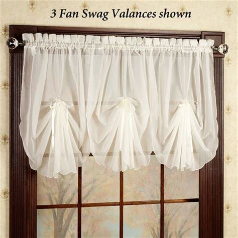 Swag Valance Curtains Emelia Sheer Fan Swag Valances