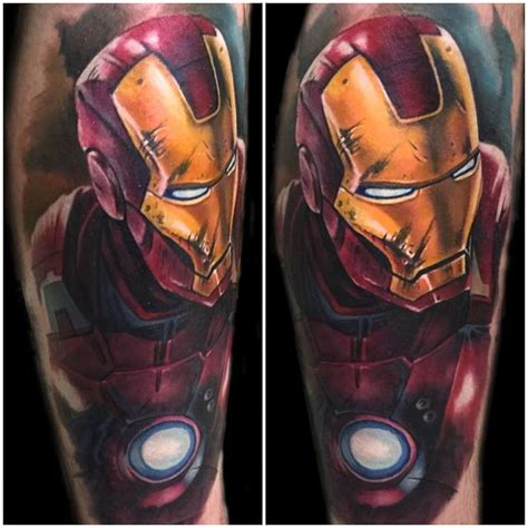 full body iron man tattoo color realistic iron man tattoo by evan olin tattoos