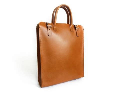 Handmade Tote Bag - handmade leather tote bag handmade carryall basader