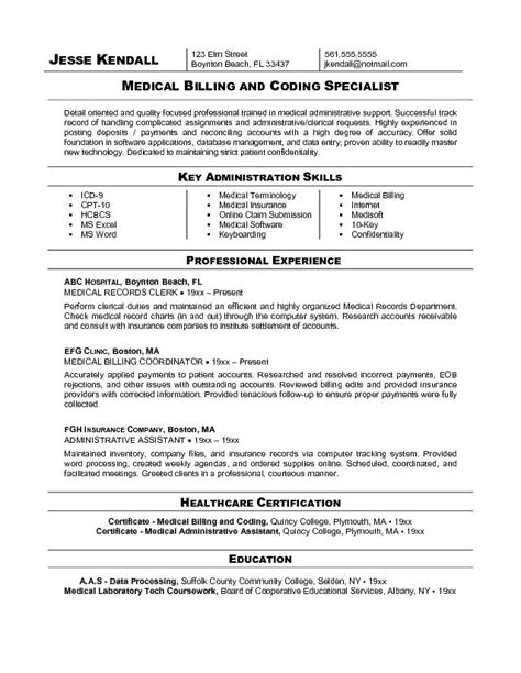 medical billing and coding resume exles cool stuff to