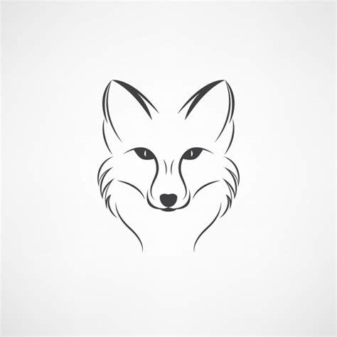 image vectorielle d un dessin de renard sur fond blanc